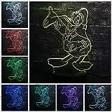 3d led lampe donald duck lamparas led infantil usb basis 7 farben ändern nachtlicht dekor...