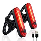 Lfnhai Fahrradlicht-Set, Mountainbike-Licht, Rücklicht-Set, 4 Beleuchtungsmodi, USB-Schnellladung,...