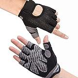 Hually Fitness Handschuhe, Trainingshandschuhe,rutschfest Gewichtheben Handschuhe,extra leicht und...