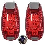 LED Sicherheitslicht Blinklicht für Kinder, Reflektoren für Kleidung Schulranzen Nachtläufer...