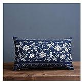 QZIZY 2 stücke Blau Und Weiß Porzellan Gedruckt Kissenbezug Dekorative Sofa Dekokissen Auto Stuhl...