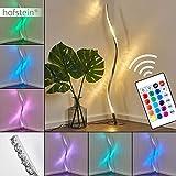 LED Stehlampe Saginaw, dimmbare Stehleuchte aus Metall in Nickel-matt, 9 Watt, 700 Lumen, Lichtfarbe...
