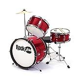 RockJam RJ-103 MR 3-Teile Junior Schlagzeug-Satz mit Crash-Becken (Trommelstecken, einstellbarer...