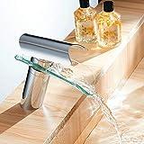 Glas Badarmatur Nostalgie Wasserhahn YUNRUX Waschbecken Wasserhahn Einhebel Mischbatterie Waschtisch...
