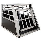 Sam´s Pet Aluminium Hundetransportbox Größe M schwarz/Silber | Alu Auto Transportbox kleine Hunde...
