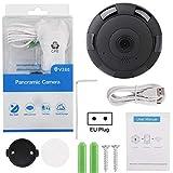 Pannow Kabellose Sicherheitskamera, 960P WiFi Kamera VR 360 ¡ã Panorama Kamera Home Safe...