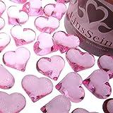 EinsSein 100x Dekosteine Funkelnde Herzen 22mm rosa Dekoration Streudeko Konfetti Tischdeko Hochzeit...