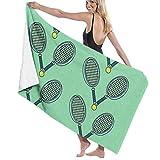 Sunny R Tennisball und Schläger Badetuch von Quick Dry Towel für Dusche Hotel Spa Sportreisen Yoga...