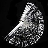 Silverdee 50 / Set Nail Art Tipps Display Übungssticks Fächerförmige Nagellackmuster Farbfeld...