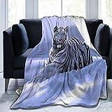 Olverz Schneetiger, flauschige, warme Couch-Decke, alle Jahreszeiten, Umarmungsdecke, farbecht, Sofadecke, bequeme Plüschdecke für Auto, Bett, Zuhause, Camping, 152,4 cm x 50