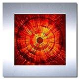Bild auf Metall - FIRE - abstrakte Bilder Moderne Kunst - Metallbild Limitierte Edition Wandschmuck...