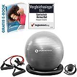 Sportastisch Gymnastikball Vergleichssieger¹ Workout Ball mit Pumpe & Trainingsbänder, Robuster...