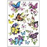 Stickerbogen 3-D Relief-Sticker | Hochwertig geprägt mit 3-D-Effekt | Din A4 Bogen mit...