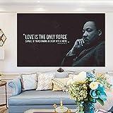 jiushice Rahmen Liebe ist die einzige Kraft! Inspirierende Zitate Kunst Leinwand ng Home Decor...