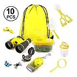 Onlyonehere Kids Explorer Kit Outdoor Abenteuer Camping Kit & Bug Catcher Kit Mit Kordelzug Fernglas...