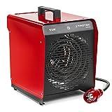 TROTEC TDS 50 E Elektroheizgebläse (max. 9 kW) Integriertes Thermostat 2 Heizstufen Kondensfreie...