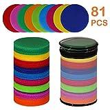 SEISSO Teppich-Marker, 81 Kreisen, Punkte, 10,2 cm, Punkte, für Kinder, Lehrer, Klassenzimmer,...
