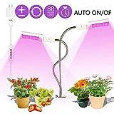 Plant Grow Light, Sunlike Vollspektrum 88 LED Dual E27 Ersatzbirnen 360 ° Flexibler Schwanenhals...