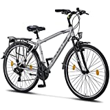 Licorne Bike Life M-V-ATB (Grau/Schwarz) 28 Zoll Herrenfahrrad,Trekking, ATB, CTB ab 160 cm,...