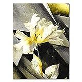 XWArtpic Skandinavischen Stil Poster Marmor Golden Leaf Kunst Pflanze Abstrakte Nordic Leinwand...