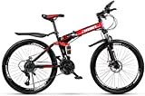 Aoyo Mountainbike Falträder, 26in 21-Gang-Doppelscheibenbremse Fully Anti-Rutsch, leichten...