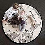 HIL Adventure World Map Teppich, Kriechende Spieldecke Für Kinder, Bodenunterhaltungsspielmatte,...