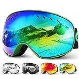 Glymnis Skibrille Snowboard Brille Schneebrille Doppel-Objektiv Schutzbrillen UV-Schutz Anti-Nebel...