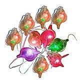 NUOBESTY 12Pcs Glühen Tritonshorn Pfeifen LED Leuchten Pfeife Halskette Neujahr Glühen im Dunkeln...