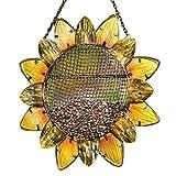 YINLANG Wild Bird Feeder, Metall Sonnenblume hängen Samenschale Outdoor Patio Garten Baum Hof Dekoration