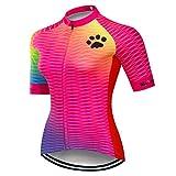 Weimostar Radtrikot Damen-Mountainbike-Jersey-Zip-Shirts Kurzarm Rennrad-Oberteile...