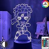 Chibi Naruto Uzumaki Acryl Cooles Geschenk Teenager Nachtlicht 3D LED Tischlampe Kinder...