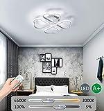 WANG-LIGHT Moderne LED Deckenleuchte Wohnzimmer Schlafzimmer Deckenlampe Dimmbare mit Fernbedienung,...