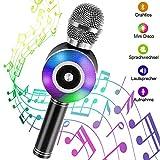 Karaoke Mikrofon Bluetooth, NINECY Drahtlose Mikrofon mit Lautsprecher für Kinder Erwachsene,...