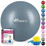TRESKO Anti-Burst Gymnastikball 55cm 65cm 75cm 85cm   Sitzball   Yogaball   300 kg   mit Luftpumpe...