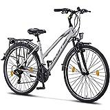 Licorne Bike Life L-V-ATB (Grau/Schwarz) 28 Zoll Damenfahrrad,Trekking, ATB, CTB ab 160 cm,...