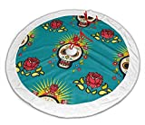 shetaonongbaihuodian Mexican Day Dead Skulls Weihnachtsbaumrock Classic Holiday Decorations 30 36 48...