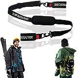 ZONSUSE Ski Shoulderstrap, Tragegurt für Skifahren und Stöcke, Verstellbarer Ski Shoulder Strap,...