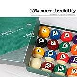 WXS 16 Farbe Billiard Supplies Gestreifte Pool-Ball Unisex 52.5mm / 2-1/16 (Size : More Than 100...