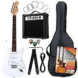 Rocktile Banger's Pack Komplettset E-Gitarre Weiß (Verstärker, Tremolo, Tasche, Kabel, Gurt,...