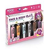 Gesichts- & Körperfarbe mit Pinselapplikator von Moon Creations - 15ml - Abenteuer Farb-Boxset