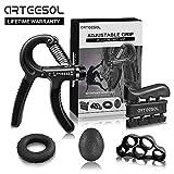 Arteesol Hand Trainingsgerät (10-60kg) 5 in 1 Unterarmtrainer Einstellbar Hand Grip für Klettern...