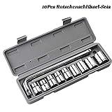 GREENER rohrsteckschlüssel/Metal-Knarrensatz mit Durchsteckvierkant, 1/2 Zoll-Antrieb, metrisch,...