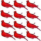 Gift Boutique Künstliche Kardinalvögel mit Clips, für Weihnachtsbaum, 12,7 cm, 12 Stück