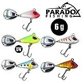 Paradox Fishing Jig Spinner 5er 6g Set Spin Jig zum Barsch Angeln Barsch Köder Zander Köder Hecht...