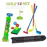 SOWOFA Profi. Golfspielzeugset Indoor / Outdoor Sportspiele Color Golfer Übungsspielset mit...