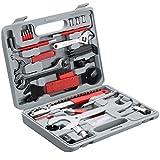 TecTake 403284 50tlg Fahrrad Werkzeugkoffer für Wartungs- und Optimierungsarbeiten, Werkzeug Set...