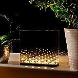 Maison & White Infinity Teelicht Kerzen Box | Spiegel für optische Täuschung dekorieren Dark Glass...