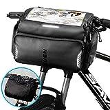 TEUEN Fahrrad Lenkertasche Wasserdicht Mountainbike Tasche Lenker Fahrradtasche mit Regenhülle,...