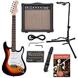Rocktile Sphere Classic Sunburst E-Gitarre Set (E-Gitarre in ST-Design mit 3 Tonabnehmer und...