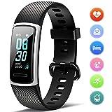 FITFORT Fitness Armband mit Pulsmesser- IP68 Wasserdicht Fitness Tracker Smartwatch, schrittzähler,...